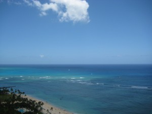 View of Waikiki Beach, Honolulu, Hawaii, photo by Luxury Travel Writer Nancy D. Brown