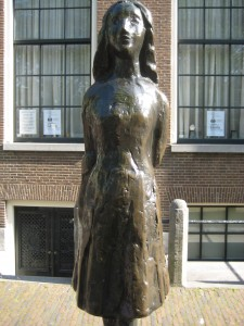 Anne Frank statue, amsterdam, holland, luxury travel writer nancy d. brown