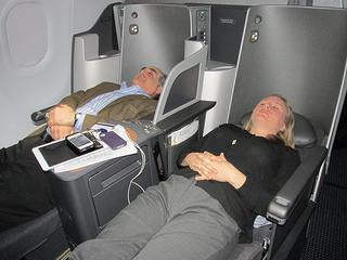"lie-flat seats, ""American Airlines"""