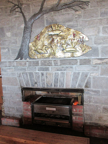 Auberge des 3 Canards, fireplace, Quebec, Canada