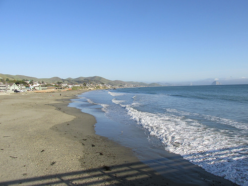 California's central coast, beach