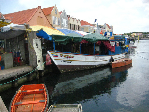 """Curacao Floating Market"" ""Willemstad"" ""UNESCO World Heritage"""