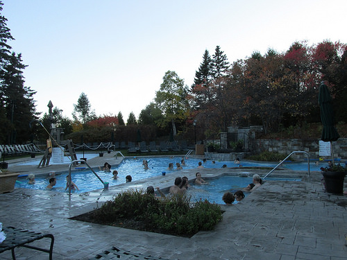 Fairmont le Manoir Richelieu, pool, Quebec, Canada