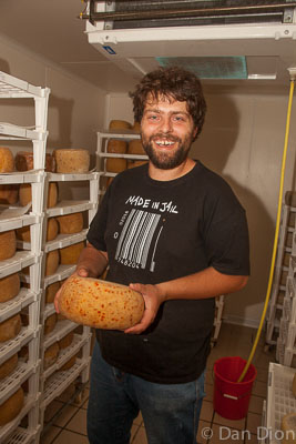 Giancarlo Gentili, is a Slow Food purveyor who makes pecorino cheese.