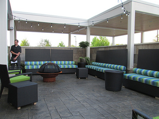 Home2 Suites patio, Huntsville, Alabama