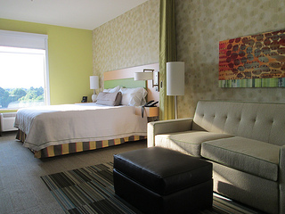 Home2 Suites hotel room, Huntsville, Alabama