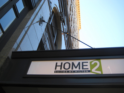 """Home2 Suites exterior sign"""