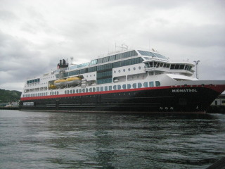 Hurtigruten, MS Midnatsol, ship, Norway, Nancy D. Brown, travel