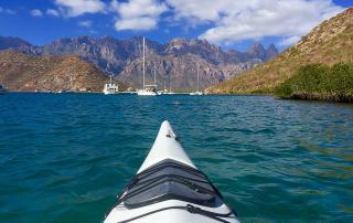 puerto escondido, baja california sur, mexico, kayak