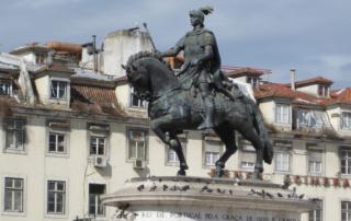 king john 1st, lisbon, portugal, statue, historical