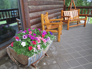 Lone Mountain Ranch porch