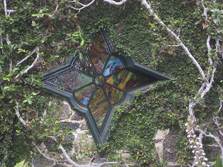 """La Playa Carmel star-shaped stained glass window"""