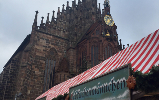 church of our lady, nuremberg christmas market, germany