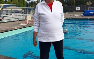 Margaret Shasky, knee replacement, swimming pool