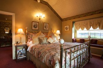 The Renaissance Rose Suite at the Mill Rose Inn in Half Moon Bay.