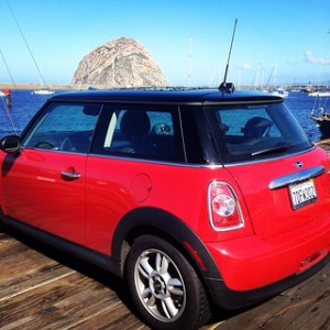 mini cooper, morro bay roadtrip