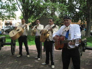 Mariachi music, Old Town Albuquerque, New Mexico, Nancy D. Brown, travel