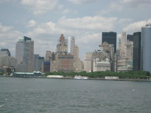 Take the staten island ferry in New York to see the statue of liberty and New York city skyline