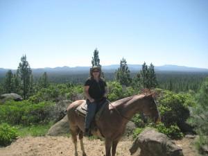 Nancy D. Brown, horseback riding, Ramsey Ridge, Sunriver, Oregon