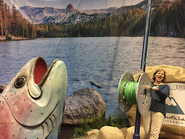 mammoth lakes, california, nancy d. brown, nancy brown, travel & adventure show, fishing