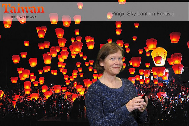 nancy brown, nancy d. brown, taiwan, pingxi sky lantern festival, bay area travel & adventure show