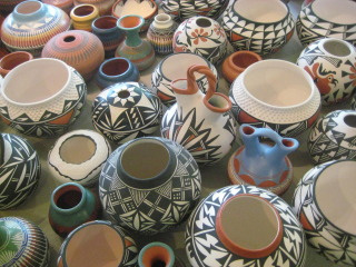 New Mexico Pottery, Albuquerque, Nancy D. Brown, travel