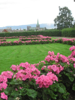 Nidaros Cathedral, Trondheim, Norway, Nancy D. Brown, travel, flowers