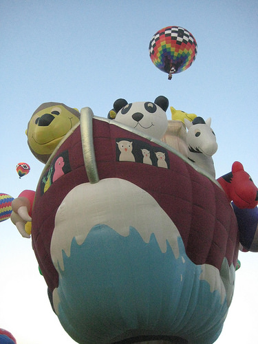 Noah's Ark at the Albuquerque International Hot Air Balloon Fiesta. Photo © Nancy D. Brown