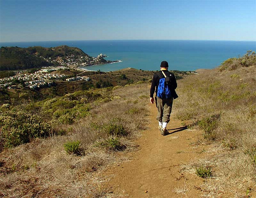 """Pacific oceanfront hiking trail"""