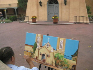San Felipe de Neri Church, Albuquerque, New Mexico, Nancy D. Brown
