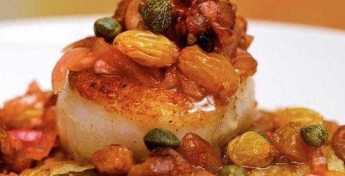 """""""Passionfish"""" sea scallops"""