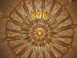 """Penrose Room"" chandelier"