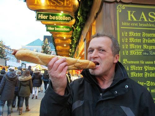 1/2 meter bratwurst, Regensburg, Germany, Christmas Market