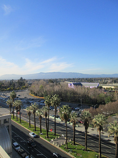 Hilton Hotel San Jose view