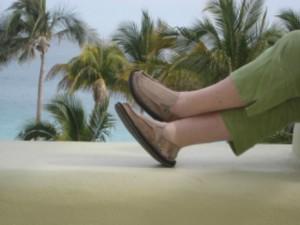 """""""Sanuk"""" surfer sandal """"Nancy D. Brown"""