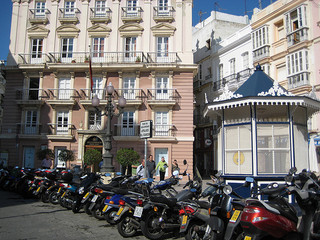 Scooters in Cadiz, Spain