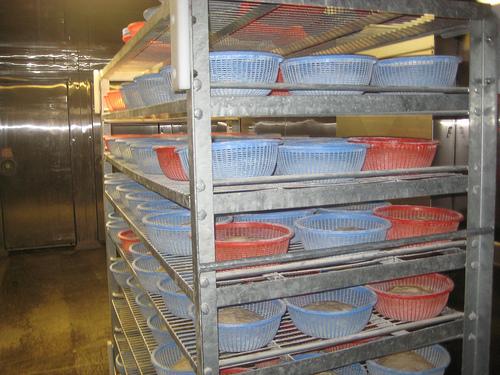 """""""Semifreddi breads rest in proofing baskets"""""""