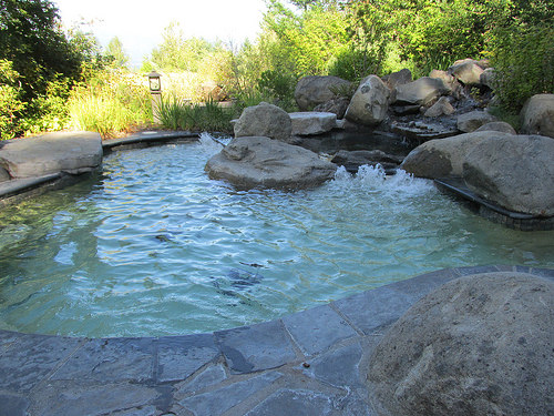"""Skamania Lodge"" hot tub"
