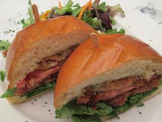 Soft shell crab BLT Jakes