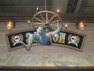 "Cowboy sculpture, ""Saturday Night"" Kelly Graham"