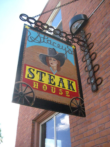 """Stacey's Steak House"" Gallatin, Montana, restaurant"
