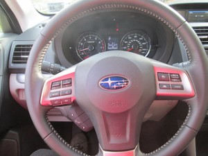 Subaru Forester Leather-wrapped steering wheel