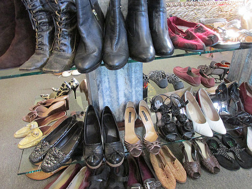 Threads, shoes, Morro Bay, California
