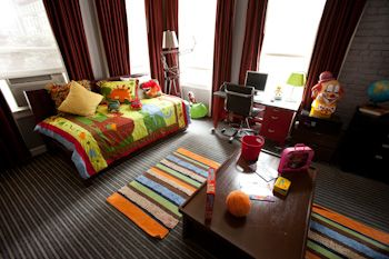 The kids' suite at the Hotel Union Square in San Francisco.