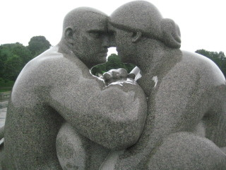 Vigeland Sculpture Garden, Oslo, Norway, Nancy D. Brown, travel