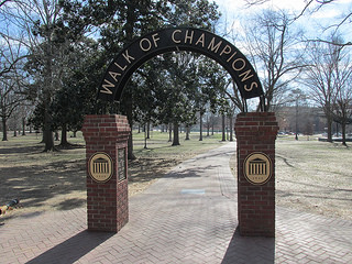 walk of champions, oxford, mississippi