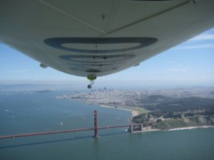 Airship Ventures, Zeppelin, Golden Gate Bridge, Nancy D. Brown, travel