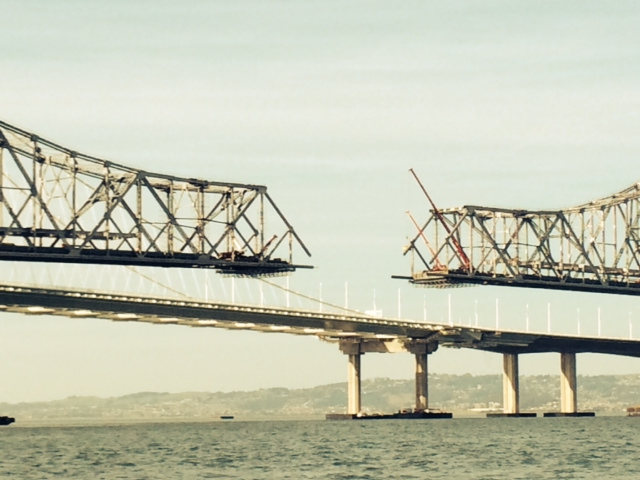 The dismantling of the old span of the Bay Bridge, Oakland, CA.