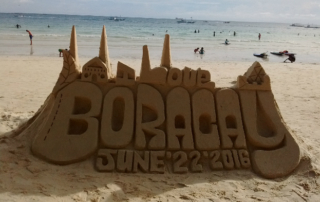 At the White Sand Beach there's a bit of sand castle love
