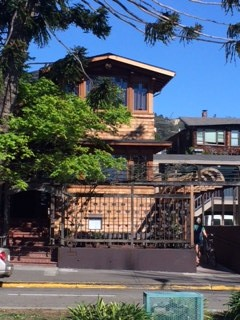 The exterior of Alice Waters' Chez Panisse, considered the birthplace of California cuisine.